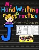 Alphabet Handwriting Practice - Letter Jj