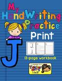 Alphabet Handwriting Practice - Letter Jj (PRINT)