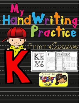 Alphabet Handwriting Practice - Letter Kk