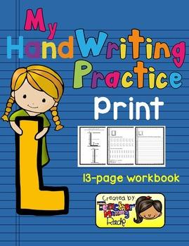 Alphabet Handwriting Practice - Letter Ll (PRINT)