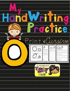 Alphabet Handwriting Practice - Letter Oo