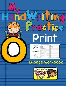 Alphabet Handwriting Practice - Letter Oo (PRINT)