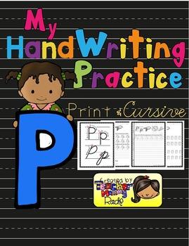 Alphabet Handwriting Practice - Letter Pp