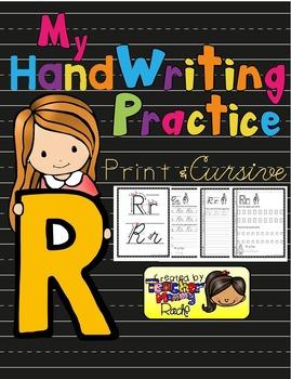 Alphabet Handwriting Practice - Letter Rr