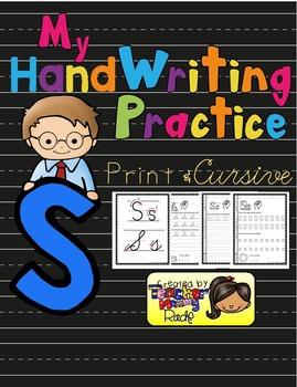 Alphabet Handwriting Practice - Letter Ss