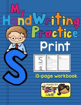 Alphabet Handwriting Practice - Letter Ss (PRINT)