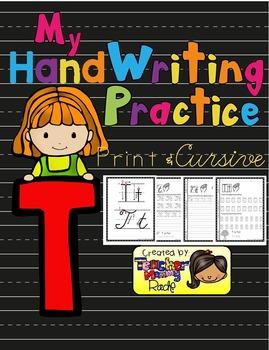 Alphabet Handwriting Practice - Letter Tt