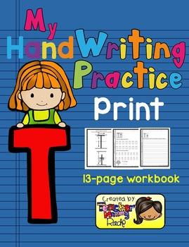 Alphabet Handwriting Practice - Letter Tt (PRINT)