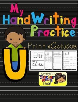 Alphabet Handwriting Practice - Letter Uu