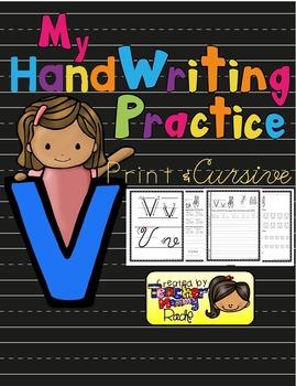 Alphabet Handwriting Practice - Letter Vv