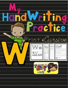 Alphabet Handwriting Practice - Letter Ww