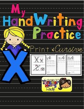 Alphabet Handwriting Practice - Letter Xx