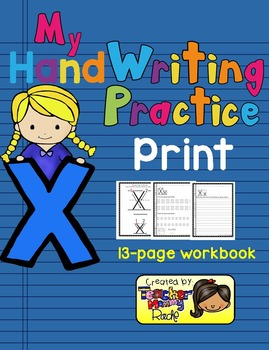 Alphabet Handwriting Practice - Letter Xx (PRINT)