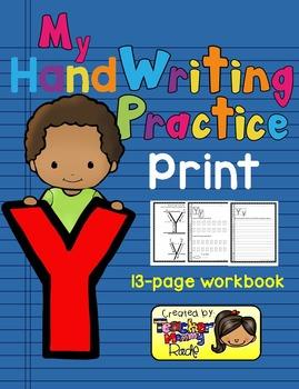 Alphabet Handwriting Practice - Letter Yy (PRINT)