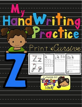 Alphabet Handwriting Practice - Letter Zz