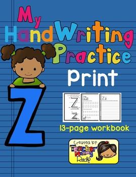 Alphabet Handwriting Practice - Letter Zz (PRINT)