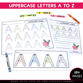 Alphabet Handwriting Practice - NO PREP worksheets
