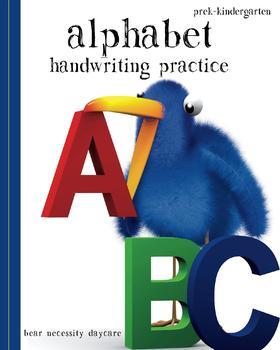Alphabet Handwriting Practice - PreK - Kindergarten