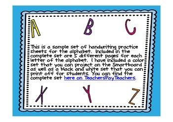 Alphabet Handwriting Practice Sample Letter Aa