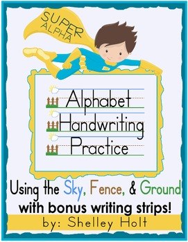 Alphabet Handwriting Letter Practice - Sky, Fence, Ground