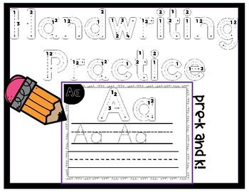 Alphabet Handwriting Practice - Uppercase Letters Only