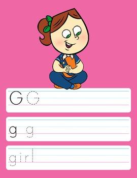 Alphabet Handwriting Practice: Write and Wipe or Print
