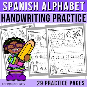 Alphabet Handwriting Practice in Spanish