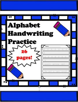 Alphabet Handwriting Practice: w/Letters, Words, and Sentences!