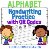 Alphabet Handwriting Practice with QR codes