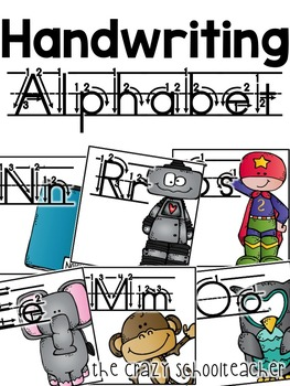 Handwriting Print Alphabet