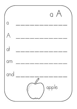 Alphabet Handwriting Sheets