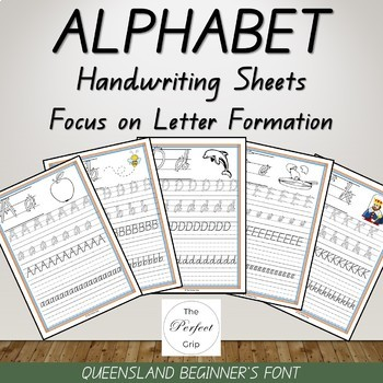 Alphabet Handwriting Sheets Queensland Beginners Font By The Perfect Grip