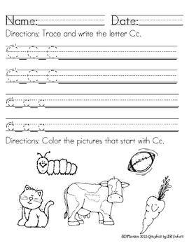 Alphabet Handwriting & Sound Packet (Common Core)