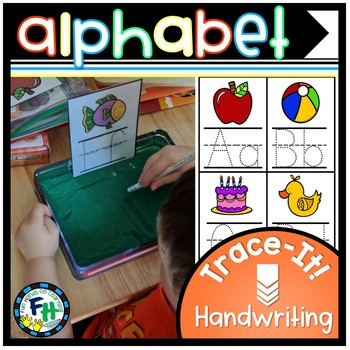 Alphabet Handwriting Trace Cards