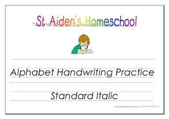 Alphabet Handwriting Tracing & Activity Book  ~ Standard Font