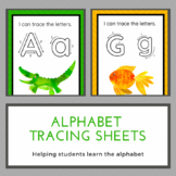 Alphabet - Handwriting Tracing Sheets (Write and Wipe)