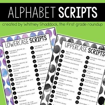 Alphabet Handwriting Verbal Path Scripts