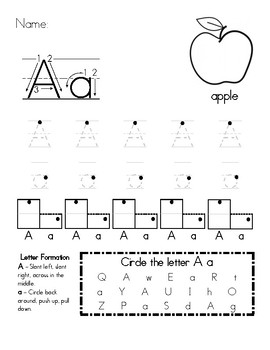 Alphabet Handwriting Worksheets A-Z