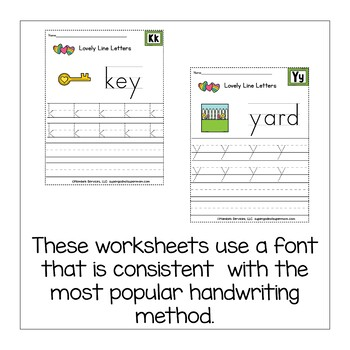 Alphabet Handwriting Worksheets - Lovely Lines Lowercase Edition