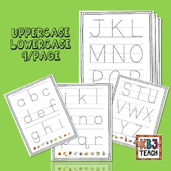 """Learn the Alphabet """"Write & Wipe"""" Tracing Mats, Cards & Worksheets (RF.K.3a)"""