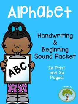 Alphabet Handwriting and Beginning Sound Packet