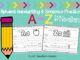Alphabet Handwriting and Sentence Practice D'Nealian Print