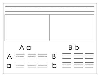 Alphabet Handwriting book (Ball and Stick writing) customizable