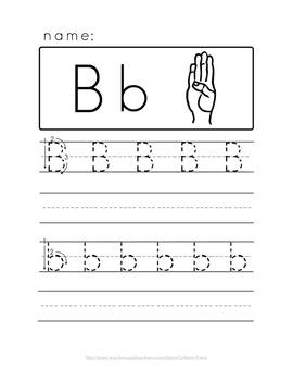 Alphabet Handwriting with ASL
