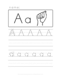 Alphabet Handwriting with ASL
