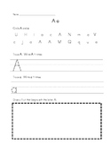 Alphabet Handwriting/Letter Recognition Practice