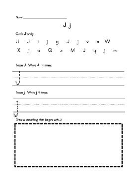 Alphabet Handwriting/Letter Recognition Practice