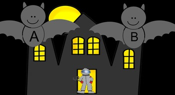 Alphabet Haunted House with Letter Bats