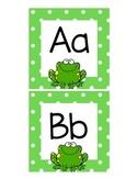Alphabet Header Cards-Frog