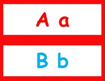 Alphabet Header for my SUPER FABULOUS Word Wall